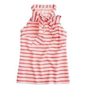 J.Crew Silk Bow Cami in Stripe